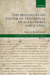 Omslag - The Prologues on Easter of Theophilus of Alexandria and [Cyril]