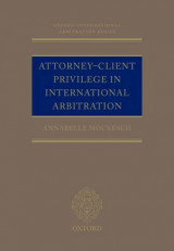 Omslag - Attorney-Client Privilege in International Arbitration