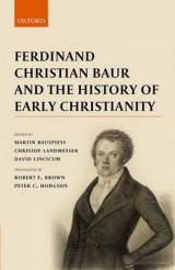 Omslag - Ferdinand Christian Baur and the History of Early Christianity