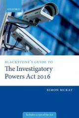 Omslag - Blackstone's Guide to the Investigatory Powers Act 2016