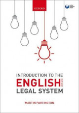 Omslag - Introduction to the English Legal System 2017-2018