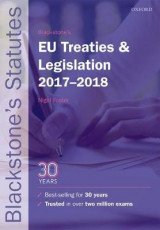 Omslag - Blackstone's EU Treaties & Legislation 2017-2018