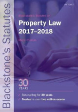 Omslag - Blackstone's Statutes on Property Law 2017-2018