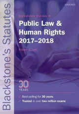 Omslag - Blackstone's Statutes on Public Law & Human Rights 2017-2018