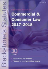 Omslag - Blackstone's Statutes on Commercial & Consumer Law 2017-2018
