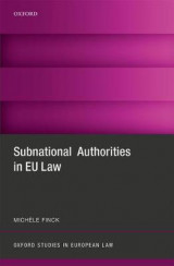 Omslag - Subnational Authorities in EU Law