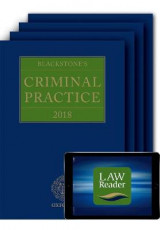 Omslag - Blackstone's Criminal Practice 2018 (Book, All Supplements and Digital Pack)