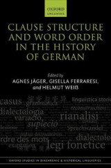Omslag - Clause Structure and Word Order in the History of German