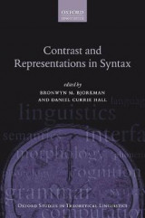 Omslag - Contrast and Representations in Syntax
