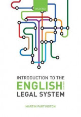 Omslag - Introduction to the English Legal System 2018-19