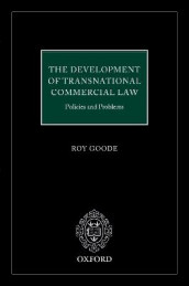 The Development of Transnational Commercial Law av Professor Sir Roy Goode QC (Innbundet)