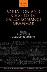 Omslag - Variation and Change in Gallo-Romance Grammar