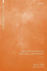 Omslag - Oxford Studies in Private Law Theory: Volume I