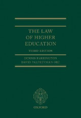 Omslag - The Law of Higher Education