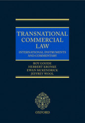 Transnational Commercial Law av Professor Sir Roy Goode, Herbert Kronke, Ewan McKendrick og Jeffrey Wool (Innbundet)
