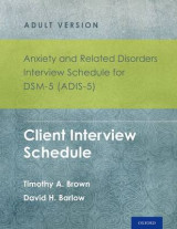 Omslag - Anxiety and Related Disorders Interview Schedule for DSM-5 (ADIS-5) - Adult Version