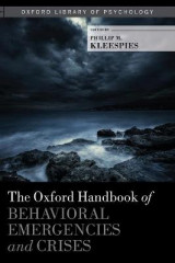 Omslag - The Oxford Handbook of Behavioral Emergencies and Crises
