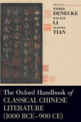 Omslag - The Oxford Handbook of Classical Chinese Literature