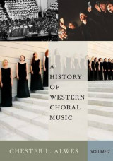 Omslag - A History of Western Choral Music: Volume 2