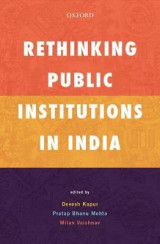 Omslag - Rethinking Public Institutions in India