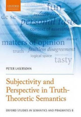 Omslag - Subjectivity and Perspective in Truth-Theoretic Semantics