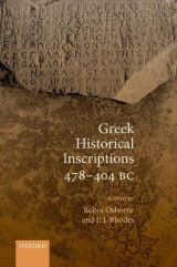 Omslag - Greek Historical Inscriptions 478-404 BC