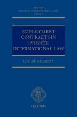 Omslag - Employment Contracts in Private International Law