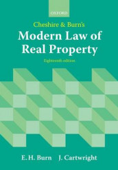 Cheshire and Burn's Modern Law of Real Property av Edward Burn og John Cartwright (Heftet)