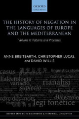 Omslag - The History of Negation in the Languages of Europe and the Mediterranean