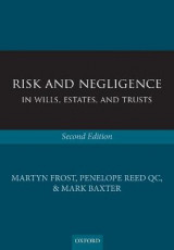 Omslag - Risk and Negligence in Wills, Estates, and Trusts