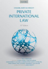 Omslag - Cheshire, North & Fawcett: Private International Law