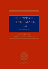 Omslag - European Trade Mark Law