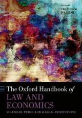 Omslag - The Oxford Handbook of Law and Economics: Public Law and Legal Institutions Volume 3