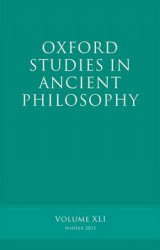 Omslag - Oxford Studies in Ancient Philosophy: v. 41