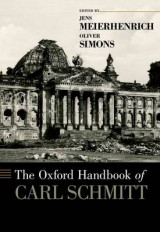 Omslag - The Oxford Handbook of Carl Schmitt