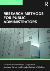 Omslag - Research Methods for Public Administrators