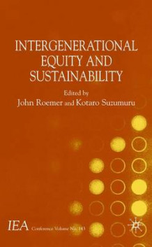 Intergenerational Equity and Sustainability (Innbundet)