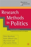 Research Methods in Politics av Peter Burnham, Karin Gilland Lutz, Wyn Grant og Zig Layton-Henry (Heftet)