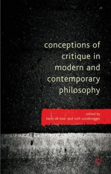Conceptions of Critique in Modern and Contemporary Philosophy (Innbundet)