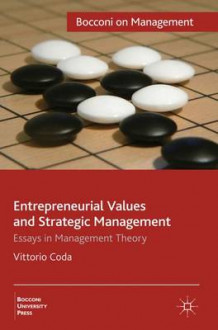 Entrepreneurial Values and Strategic Management av Vittorio Coda (Innbundet)
