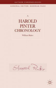A Harold Pinter Chronology av William Baker (Innbundet)