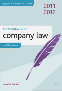 Core Statutes on Company Law 2011-12 av Cowan Ervine (Heftet)