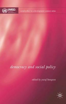 Democracy and Social Policy (Innbundet)