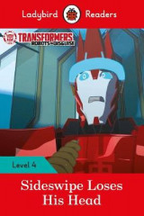 Omslag - Transformers: Sideswipe Loses His Head - Ladybird Readers Level 4