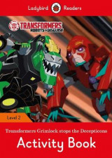 Omslag - Transformers: Grimlock Stops the Decepticons Activity Book - Ladybird Readers Level 2