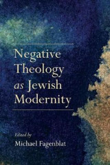 Omslag - Negative Theology as Jewish Modernity