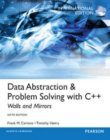 Data Abstraction & Problem Solving with C++ av Frank M. Carrano og Timothy D. Henry (Blandet mediaprodukt)