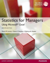 Omslag - Statistics for Managers Using MS Excel, Plus MyMathLab Global with Pearson Etext