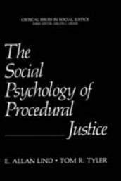 The Social Psychology of Procedural Justice av E. Allan Lind og Tom R. Tyler (Innbundet)