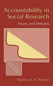 Accountability in Social Research av Norma R. A. Romm (Innbundet)